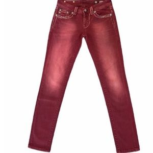 Miss Me Red Signature Skinny Jeans
